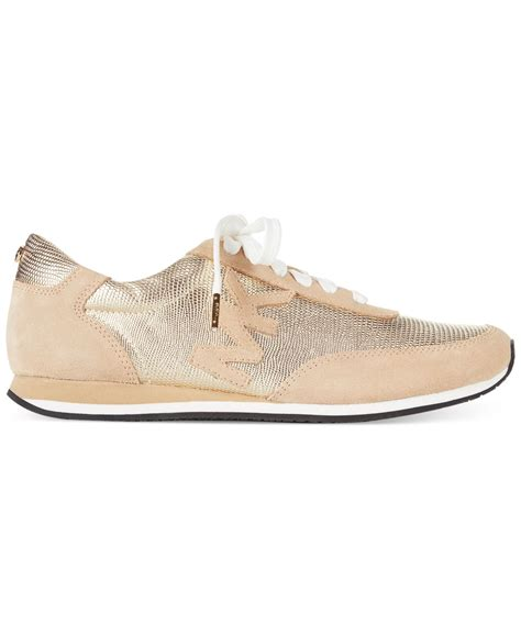 Michael kors Michael Stanton Trainer Sneakers in Metallic ...