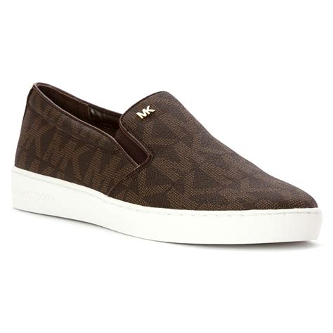 Michael Kors Women s Keaton Slip On MK Signature Shoes ...