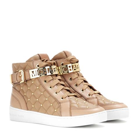Michael michael kors Essex Embellished Leather High Top ...