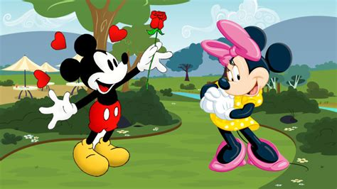 Mickey And Minnie Mouse Love Couple Wallpaper Hd 2560x1440