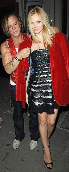 Mickey Rourke leaves celeb hotspot Mahiki with a beautiful ...