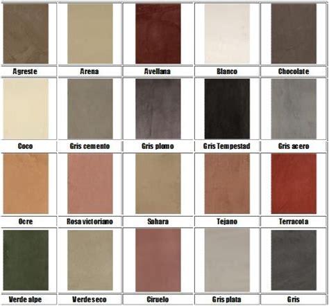 Microcemento Alisado: Colores aproximados