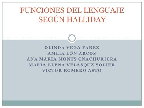 Microfunciones del lenguaje