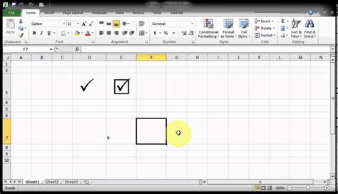 Microsof Excel Tips & Tricks - How to get Tick Marks Pair ...