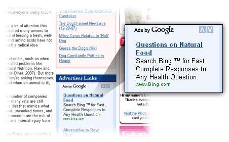 Microsoft Advertising Bing Through Google AdSense