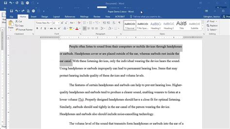 Microsoft Word 2016   First Line Indent   YouTube