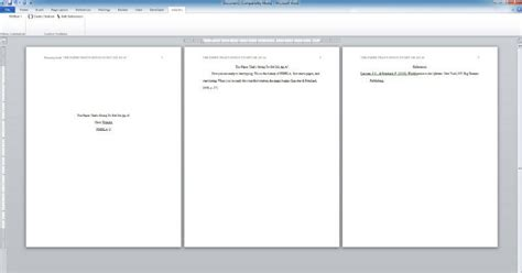 Microsoft Word Apa Running Head Page Number - how to ...