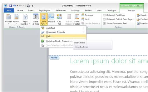 microsoft word - How to create a footer with a chapter ...