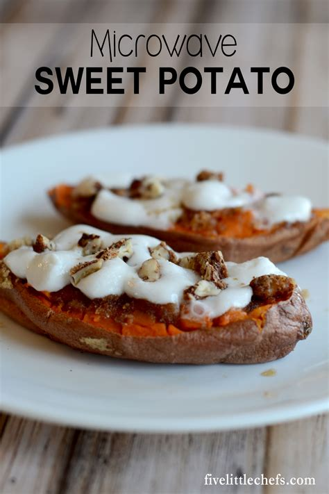 microwave baked sweet potatoes