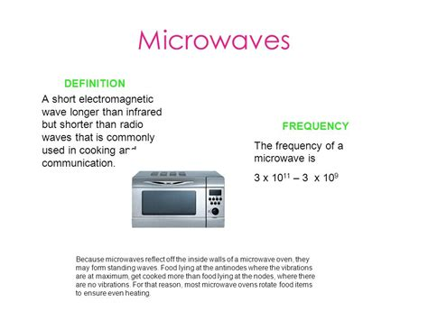 Microwaves Science Definition – BestMicrowave