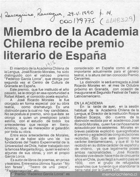 Miembro de la Academia Chilena de la Lengua recibe premio ...