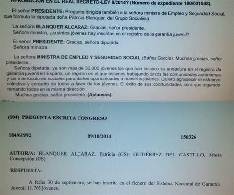 ¿Miente la Ministra de Empleo? | Patricia Blanquer Alcaraz