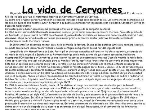 Miguel De Cervantes Biografa Biografias Y Vidas | biograf ...