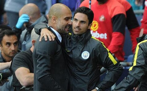 Mikel Arteta was the Man City man who argued with Leo Messi