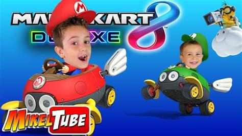 Mikel VS. Leo en Mario Kart 8 Deluxe - YouTube