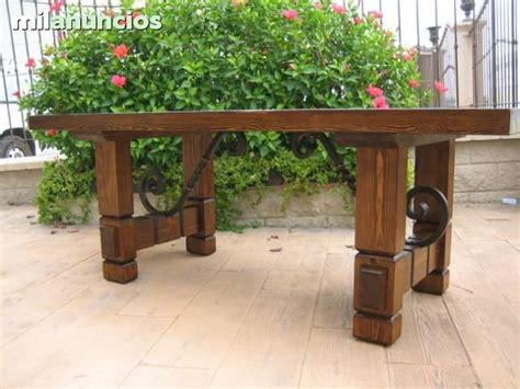 MIL ANUNCIOS.COM - Mesa rustica madera y forja | acople en ...
