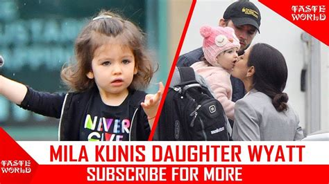 MILA KUNIS ADORABLE DAUGHTER   2017 [WYATT ISABELLE ...