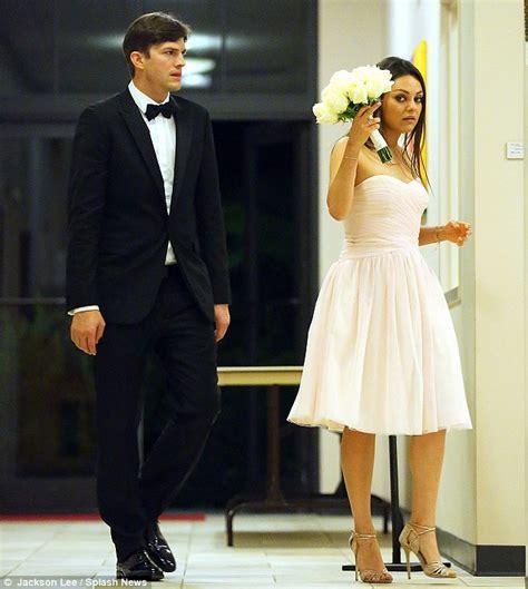 Mila Kunis at brother Michael s wedding with Ashton ...