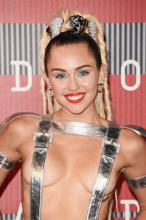 Miley Cyrus  2015 VMAs Red Carpet Outfit Was Totally Out ...