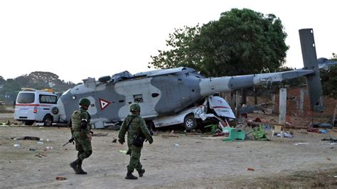 Military helicopter crashes in Mexico, killing 14 quake ...