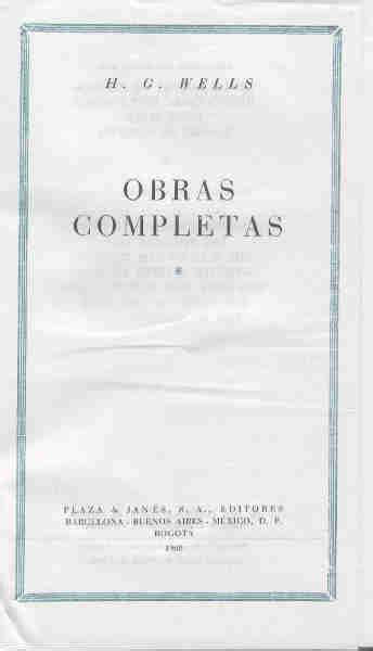 MIMO Libros :: OBRAS COMPLETAS de H. G. Wells. I. La ...