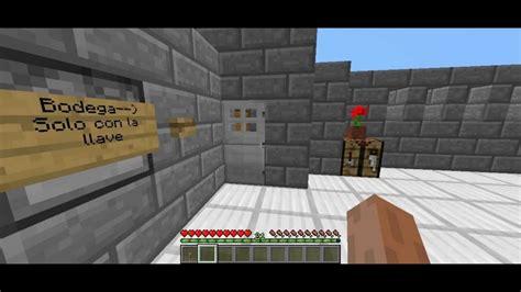 Minecraft Puertas con llave VERDADERAS!!!   YouTube