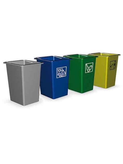 Mini Contenedor Reciclaje en colores gris, azul, verde y ...