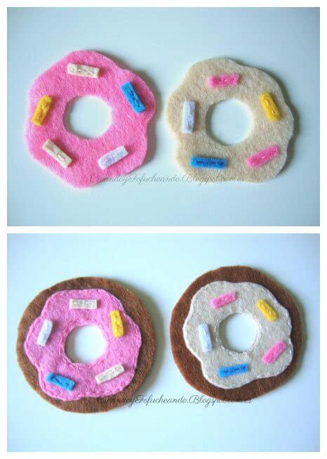 Mini donuts de Fieltro | Creando y Fofucheando