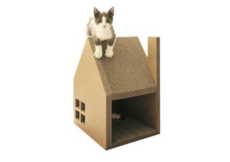 Minimalist & Stylish Cardboard Cat House Doubles As A ...