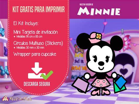 Minnie: Invitaciones Gratis para imprimir
