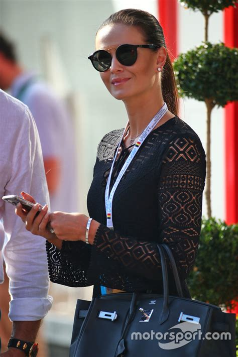 Minttu Raikkonen, wife of Kimi Raikkonen, Ferrari at ...