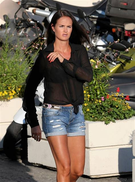 Minttu Virtanen In Black Top And Blue Short | Super WAGS ...