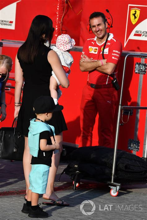 Minttu Virtanen, wife of Kimi Raikkonen, Ferrari, with ...