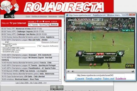 Mira tus partidos favoritos online gratis con Rojadirecta