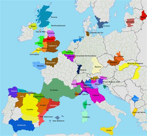 Mirada crítica: Mapa de las regiones separatistas de Europa