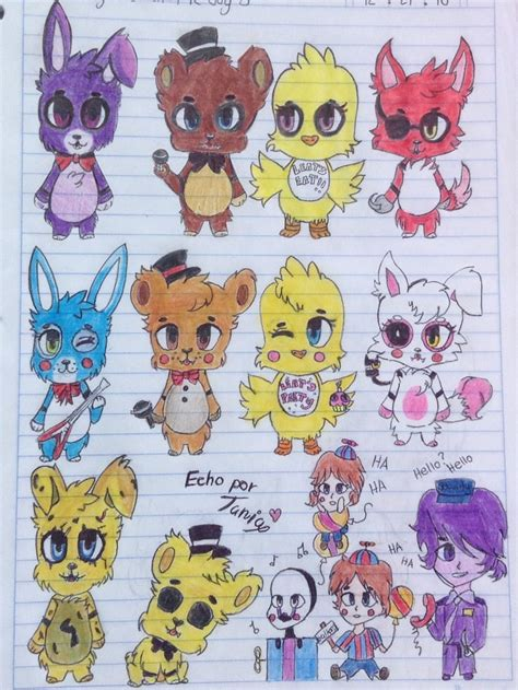 Mis dibujitos Kawaii - Animatronicos - Wattpad
