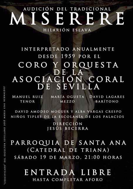 Miserere de Hilarión Eslava en Sevilla 2016   OnSevilla