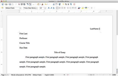 MLA Format LibreOffice - MLA Format