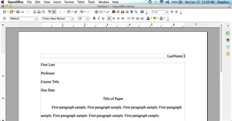 MLA Format using OpenOffice | MLAFormat.org