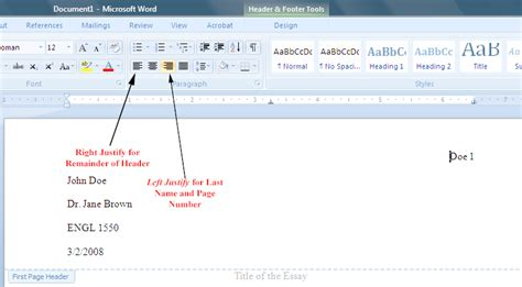 MLA Formatting In Word 2007 - Mr. Butts's ENGL 1550