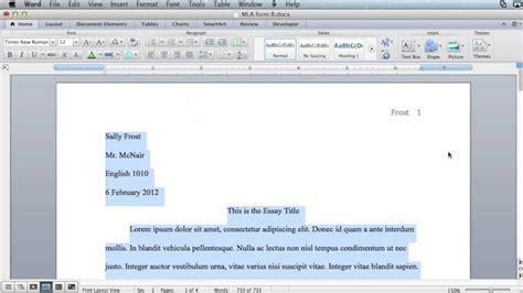 MLA formatting - Microsoft Word 2011 (Mac OS X) - YouTube