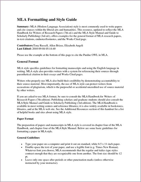 Mla Research Paper Format. mla style research paper. buy a ...