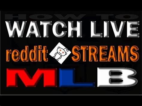 Mlb Games Live Stream Reddit | GamesWorld