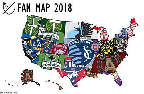MLS Fan Map 2018 : MLS