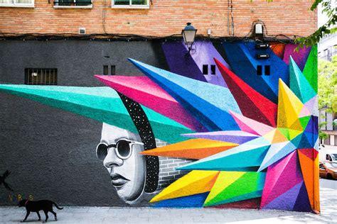 MMM Exclusive: Vibrant Geometric Street Art by Okudart in ...