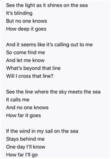 Moana How Far I'll Go Lyrics | Disney | Pinterest | Moana ...