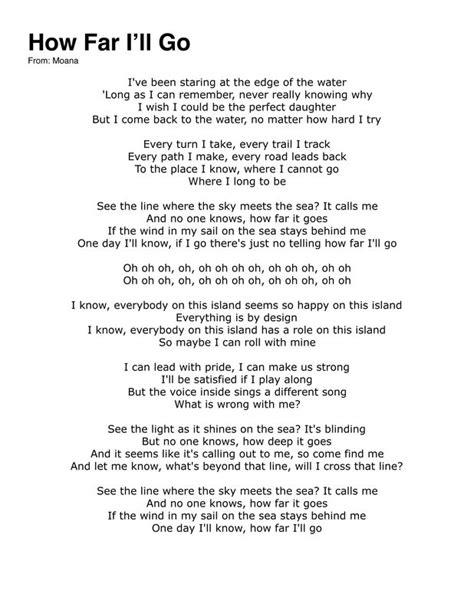+ moana how far i ll go lyrics | The Expert