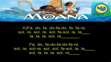 MOANA How far i'll go VAIANA Qué hay mas allá Flauta DULCE ...