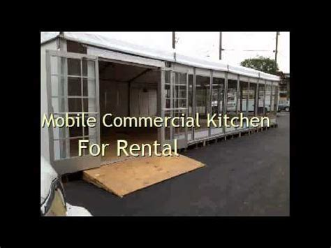 Mobile Commercial Kitchen For Rental - YouTube