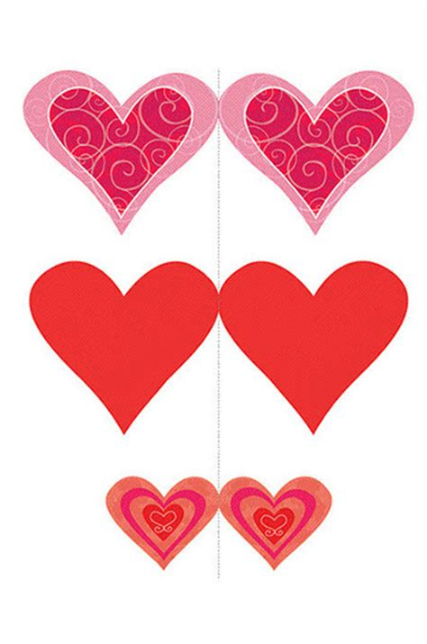 Mobiles con corazones para imprimir | Imagenes y dibujos ...